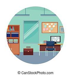 机, コンピュータ, オフィス家具