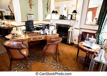 机, レセプション, ロビー, ホテル