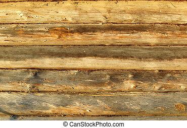 材木で支えられる, 壁