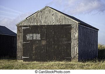 材木, ガレージ, 貯蔵の 小屋
