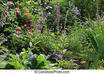 村舍花園, 英語