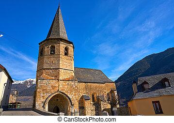 村, viella, vielha, gausac, 教会