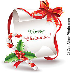 杖, カラメル, グリーティングカード, クリスマス