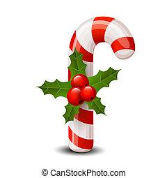 杖, クリスマス, 赤いベリー