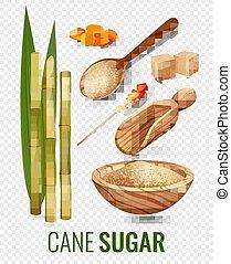 杖, セット, 透明, 砂糖