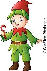 杖, 妖精, キャンデー, クリスマス, 保有物, 漫画