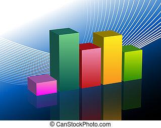 条形图, 商业, 图表, 滑动
