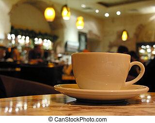 杯子, 在, 咖啡館
