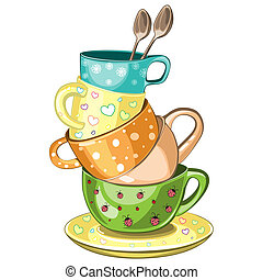 杯, 茶, 堆积