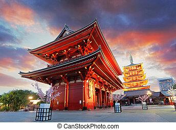 東京, -, sensoji-ji, 寺院, 中に, 浅草, 日本