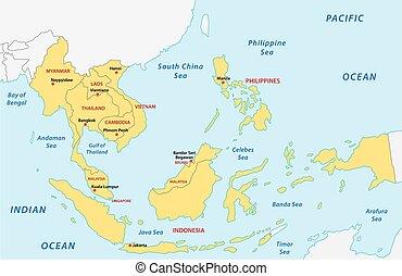 東南アジア諸国連合, (asean), 地図