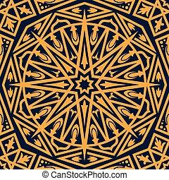 東洋人, アラビア, 装飾, seamless, パターン