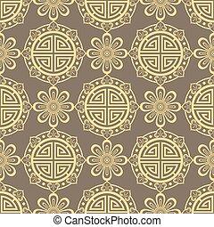 東洋人, seamless, パターン, -, 韓国語, 日本語, ∥あるいは∥, 中国語, 伝統的である, 装飾