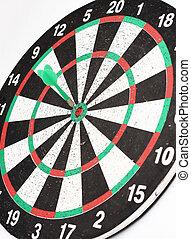 板, さっと動きなさい, ターゲット, 中心, 矢, ヒッティング