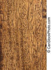 板, の上, 古い, 木, 終わり