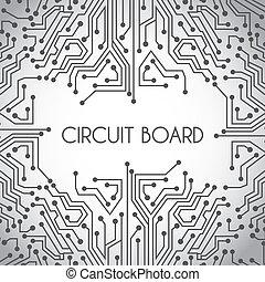 板, デザイン, 回路