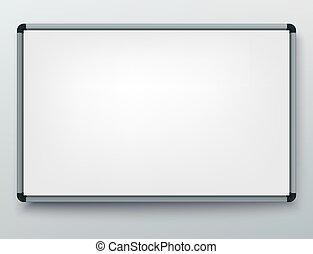 板, プレゼンテーション, フレーム, オフィス, 空, markers., 背景, 予測, screen., whiteboard