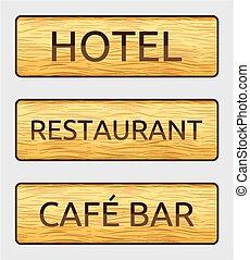 板, 印, ホテル