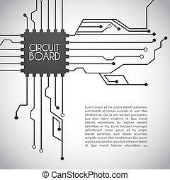 板, 回路, デザイン