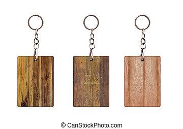 板, 型, 隔離された, 木製である, keychain