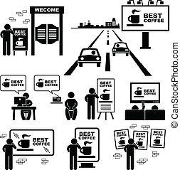 板, 広告, 広告板