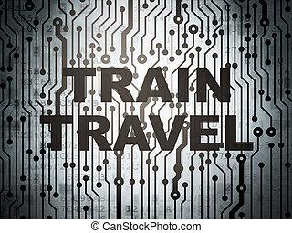 板, 旅行, concept:, 観光事業, 列車, 回路