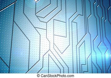 板, 未来派, 回路, 背景