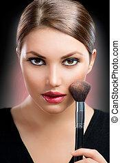 构成, 脸, makeup.
