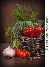 枝編み細工, 未加工, バスケット, 野菜