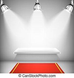 架子, 照明, 紅的地毯