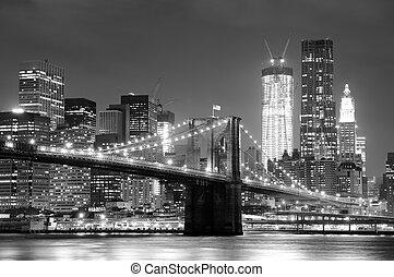 架桥, brooklyn, 城市, 约克, 新