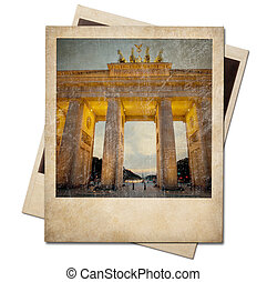 柏林, 即顯膠片, 被隔离, 框架, 葡萄酒, 相片