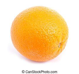 柑橘類, オレンジ, フルーツ, 隔離された, 上に, whi