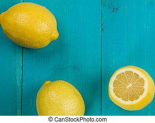 柑橘類, 新たに, 熟した, レモン, 水分が多い