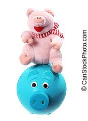 柔らかい おもちゃ, そして, piggybank