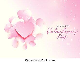 柔らかい, バレンタインデー, ピンクの背景, デザイン