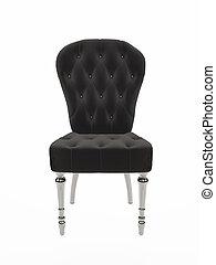 柔らかい, バロック式, chair., 布張りされた家具