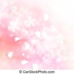 柔らかい, ピンクの花, 背景