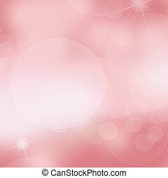 柔らかい, ピンク, ライト, 抽象的, 背景
