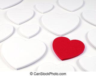 柔らかい 焦点, heart-right