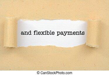 柔軟である, 支払