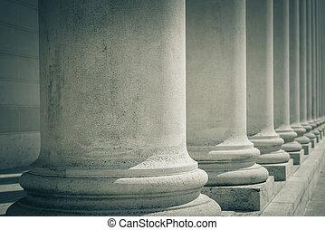 柱子, ......的, 法律, 以及, 正義