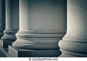 柱子, ......的, 法律, 教育, 以及, 政府