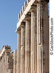 柱, の, parthenon