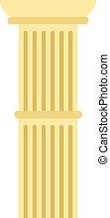 柱, スタイル, 平ら, アイコン