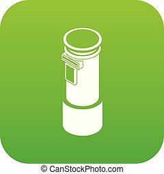 柱, ベクトル, 緑, 郵便, アイコン