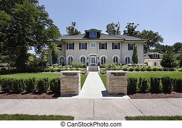 柱, 家, 石, 贅沢