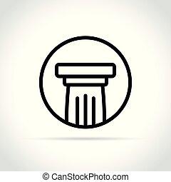 柱, 白い背景, アイコン