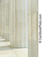 柱, 石, 横列