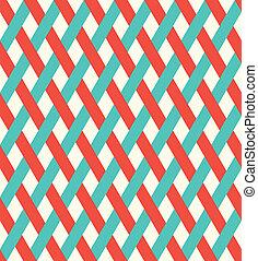 柳條, pattern., retro, seamless